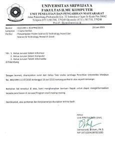 PAK SAM ILMU DAN PENGETAHUAN DAN TEKNOLOGI UNTUK MASA DEPAN INDONESIA PENYAMPAIAN POSTER SCIENCE