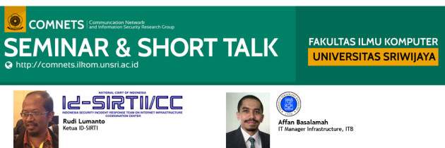 [COMNETS] Seminar & Short Talk