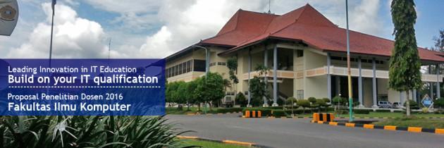 Proposal Penelitian Dosen FASILKOM 2016